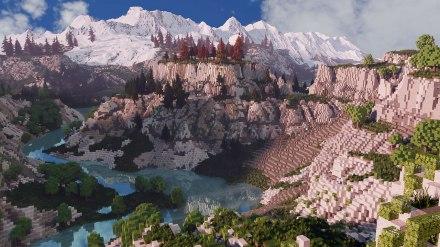 minecraftmap-mountainscape
